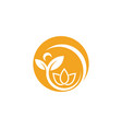 lotus flowers design logo template icon vector image vector image