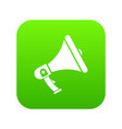 megaphone icon digital green vector image vector image