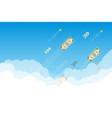 money flying up in sky vector image