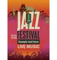 Music poster with jazz festival