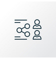 network icon line symbol premium quality isolated vector image vector image
