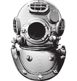 old diving helmet vector image