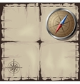Old map with Steel Compass vector image vector image