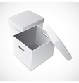 Open White Cardboard Carton Gift Box vector image