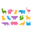 Origami animals paper toys dragon ship elephant