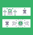 peace banners informational vector image
