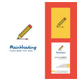 pencil creative logo and business card vertical vector image