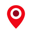 pin sign location icon vector image