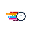 pixel art time logo icon design vector image