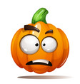 pumpkin horror fear sad halloween vector image