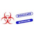 rectangle mosaic biohazard symbol with distress vector image vector image