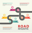 road or highway infographics car traffic map vector image vector image
