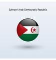 Sahrawi Arab Democratic Republic round flag vector image