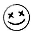 scary hand drawn dead emoji vector image vector image