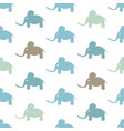 seamless pattern with funny cartoon elephants vector image vector image