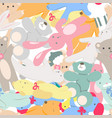 seamless pattern with toys vector image vector image