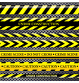 set danger and police lines vector image