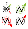set icon arrow up down move vector image vector image