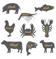 set icons animals vector image