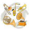 set of musical instruments-02 vector image vector image