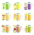 Smoothie Recipe Set vector image vector image