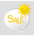 summer with speech bubble vector image