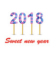 sweet new year vector image vector image