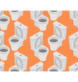 Toilet seamless pattern Accessory to toilet vector image vector image