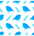 watercolor pattern with blue birds vector image