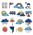 Weather Color Set vector image vector image