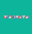 website concept word art vector image vector image