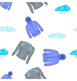 Winter clothes pattern cartoon style vector image