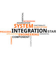 word cloud - system integration vector image vector image