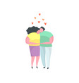 young couple man and woman in love hugging kissing vector image vector image