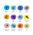 Zodiac signs collection for your design vector image