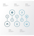 army outline icons set collection of order vector image