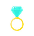 beauty wedding ring with diamond vector image