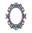 Gem Mirror Frame vector image