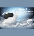 3d realistic mockup of comfortable sleep vector image vector image