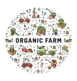 agriculture and organic farm fresh line art vector image vector image
