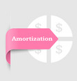 amortization when buying a house or car vector image vector image