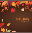 autumn leaves stylized background autumn seasonal vector image vector image