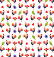 Background With Roosters vector image vector image