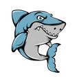 big shark with sharp teeth posing vector image