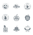 bio grocery logo set simple style vector image