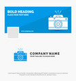 blue business logo template for camera vector image