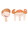Boy and Girl smile vector image vector image