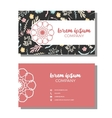 Busines cards with floral pattern vector image