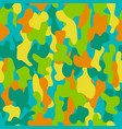 camouflage seamless pattern in a yellow green vector image