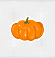 cartoon pumpkin sticker design vector image